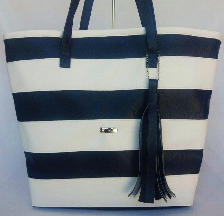 bolsa de couro, bolsa navy, bolsa de listras, bolsa azul, bolsa branca, bolsa de listras brancas, loja virtual de bolsas, bolsa estilo marinheiro, bolsa