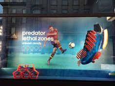 Adidas Predator Window Display | See more of what we can do at: http://kokoon.co.uk/