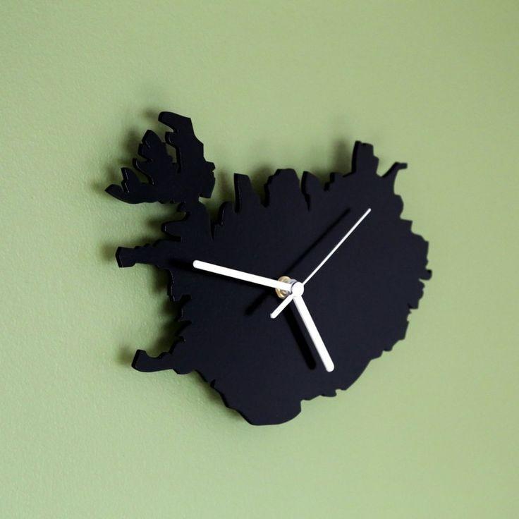 Icelandic Map Clock   Reykjavik Corner Store
