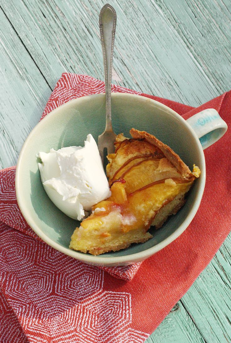 Peach Frangipane with marscapone.