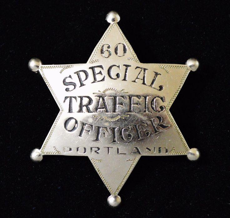 Rare Obsolete PORTLAND OREGON Special TRAFFIC OFFICER Police Badge   eBay