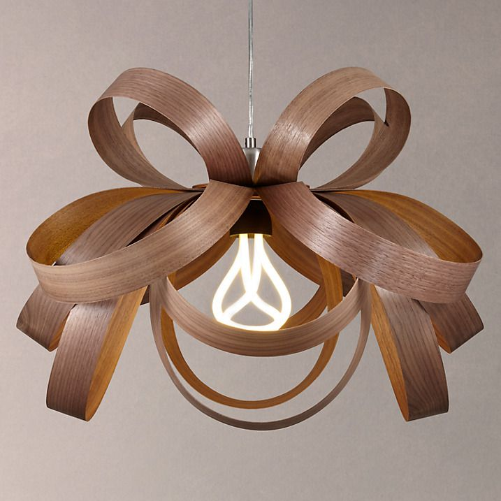Buy Tom Raffield Skipper Pendant Light, Walnut Online at johnlewis.com