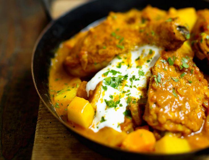 Curry de poulet au yaourt à l'indienne                                                                                                                                                     Plus