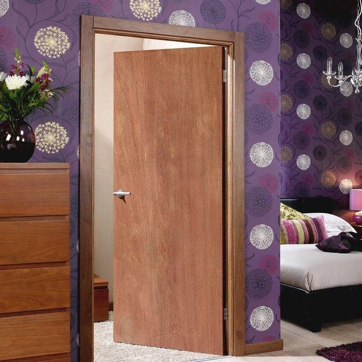 Interior 60 Minute Fire Rated Mahogany Plywood Door. #hardwooddoor #flushdoors #mahoganydoor