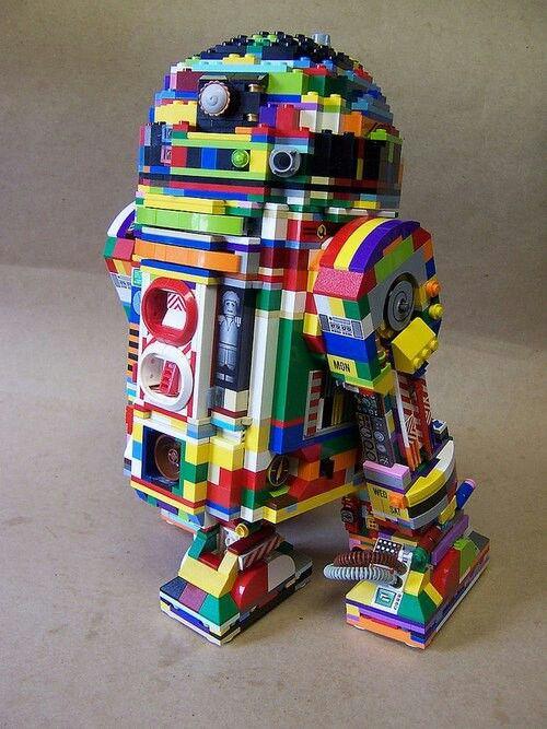 R2D2 Lego Style