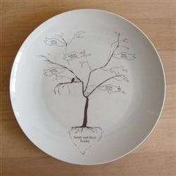Rust Designs Family Tree Personalized Platter