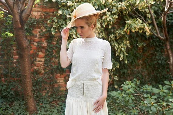 Viktorianische Bluse Frauen Spitzenbluse Boho Hochzeit Oben Etsy Spitzenbluse Outfit Bluse