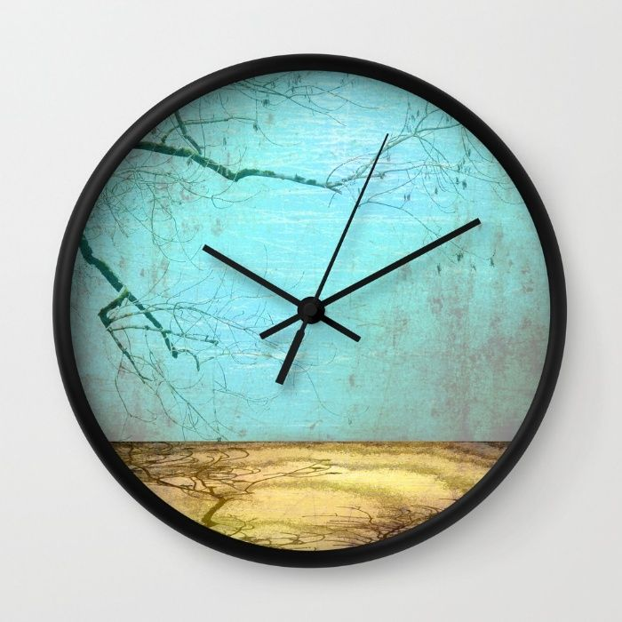 Golden Lake Wall Clock