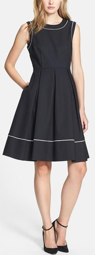Chic Is: Kate Spade New York 'hope' cotton blend fit & flare dress