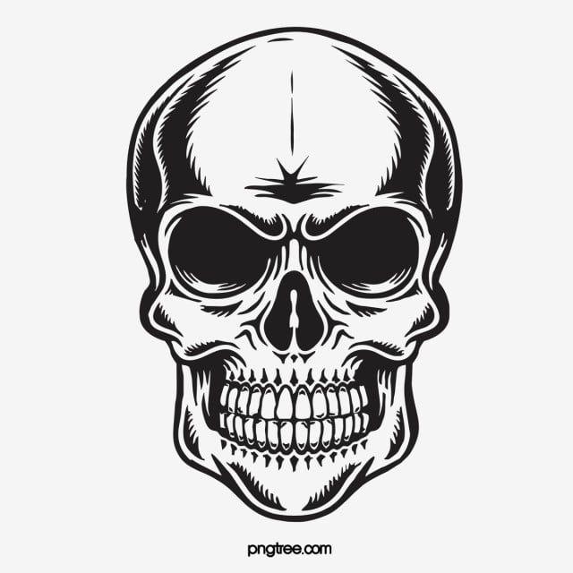 La Calavera Negra Clipart De Craneo Monocromo Clasico Png Y Vector Para Descargar Gratis Pngtree Black Skulls Wallpaper Skull Sketch Skull Art Drawing