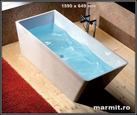 cada de baie compozit, cada baie Carmel, vana baie din compozit, cada baie dreptunghiulara, cada baie freestanding
