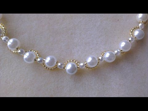Pearl Vine Bracelet (DIY) Super easy tutorial - YouTube