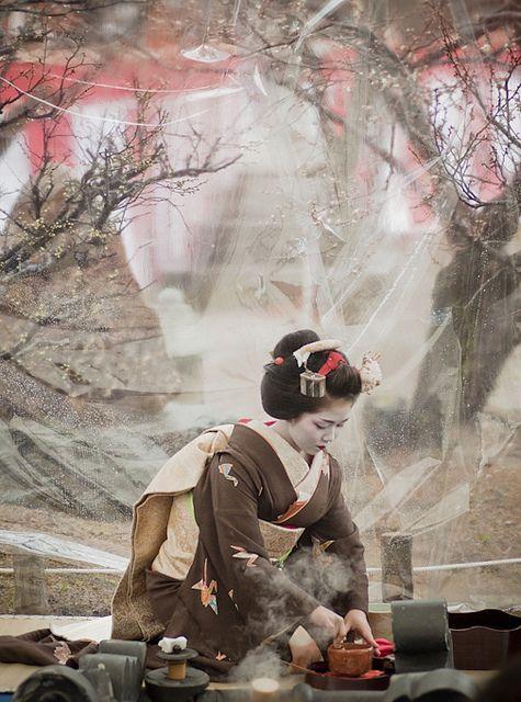 茶席 outdoor tea ceremony