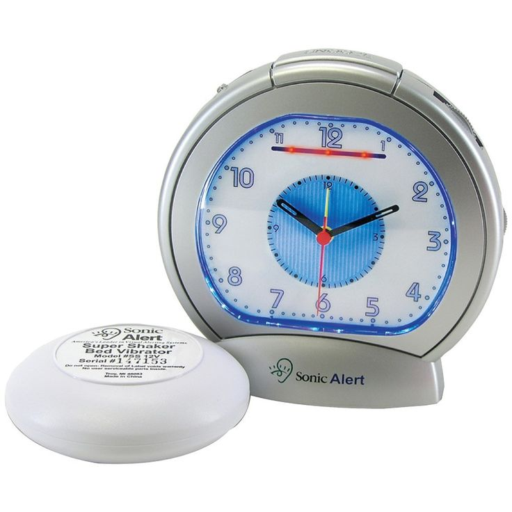 Sonic Alert SBA475ss Sonic Boom(R) Analog Alarm Clock with Super Shaker(TM)