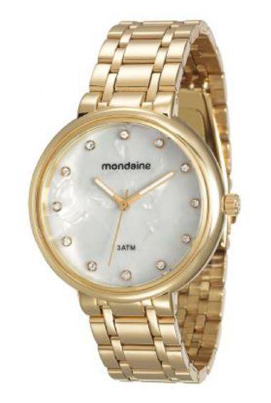 76434LPMVDE6 Relógio Feminino Mondaine Analógico Dourado | Guest Club