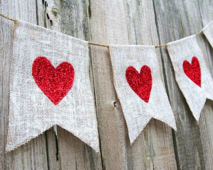 Guirnalda de corazones para sorprender en San Valentin