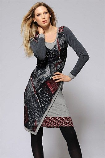 Women's Dresses - Heine Printed Wrap Dress