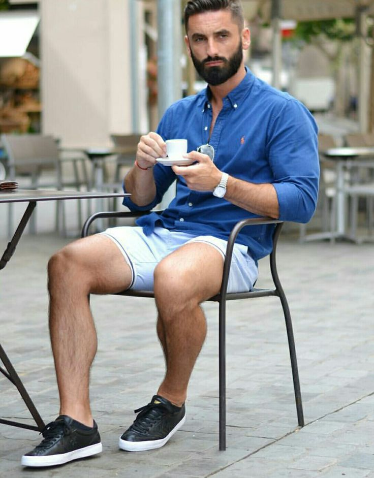 Dope style, those shorts, coffee anyone.