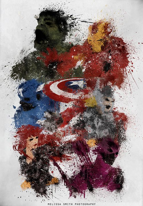 Avenvers Assemble Splatter Art by Melissa Smith