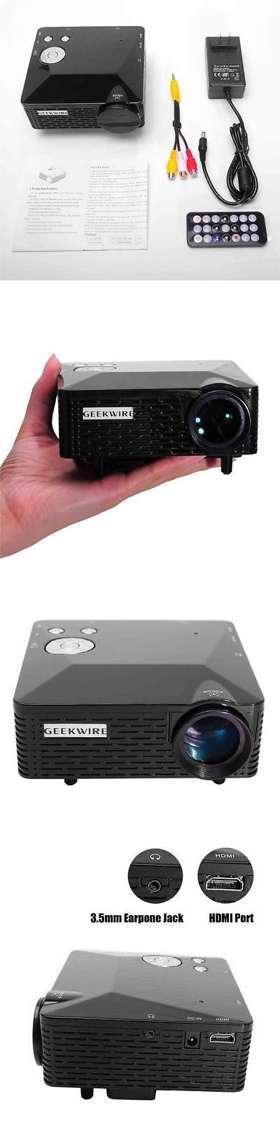 Home Theater Projectors: Lcd Home Theater Cinema Multimedia Projector Hd 1080P Usb Hdmi Vga Tv Pc Av BUY IT NOW ONLY: $52.79