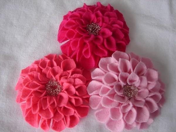 For Hair Bows kaceybealHairbows, Pink Flower, Diy Tutorial, Cute Hair, Flower Clips, Hair Bows, Felt Flower, Pretty Flower, Felt Dahlias