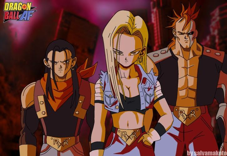 Super android 17 super android 18 and super android 16 google anime 39 dragon ball z - Dragon ball zc 18 ...