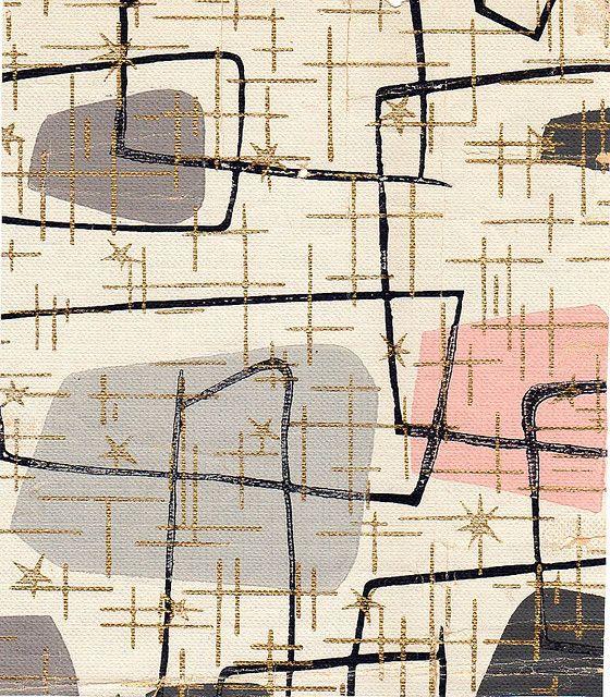 vintage atomic 50's wallpaper
