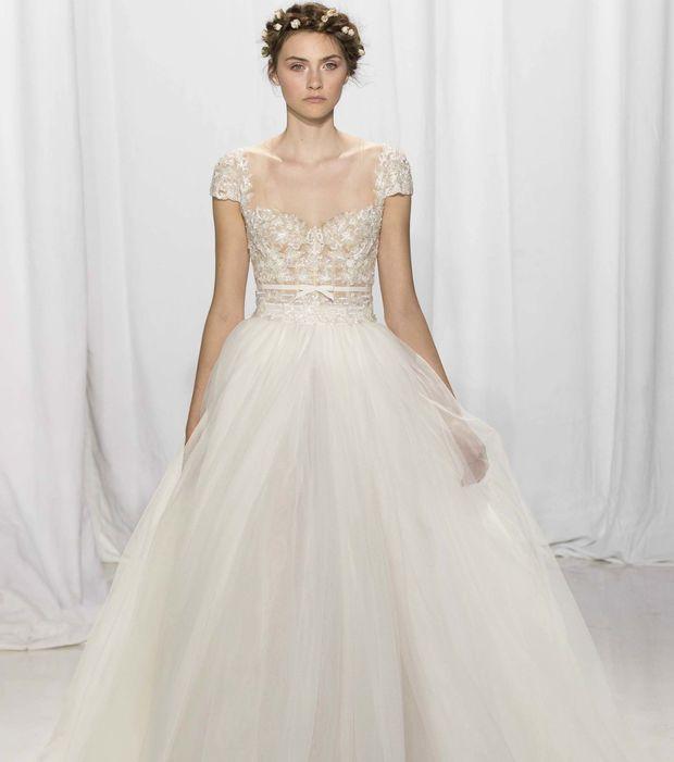 Robe de mariée princesse Reem Acra - Modèle Angela