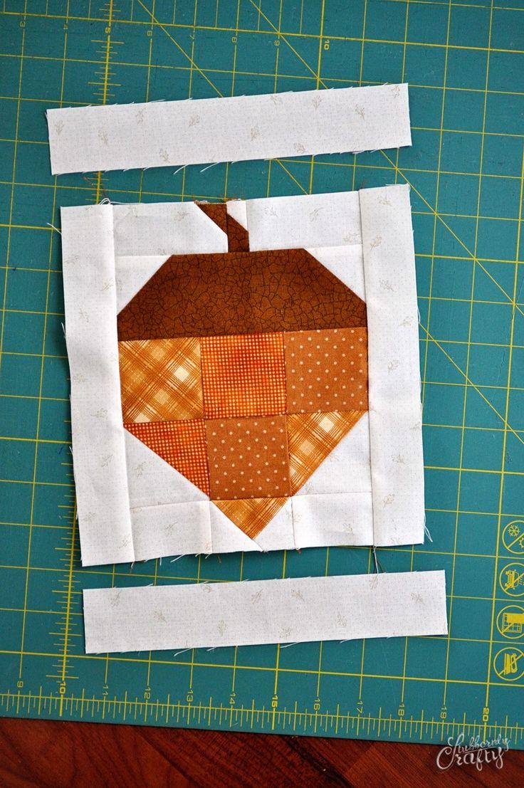 acorn quilt block tutorial