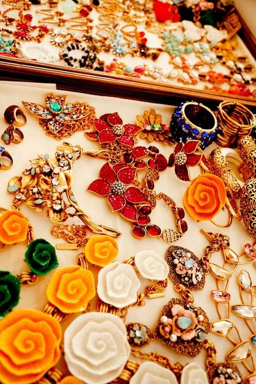 Accessories backstage at Oscar de la Renta