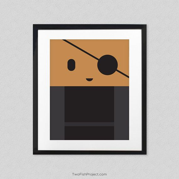 Nick Fury Poster For Kids Room Cute Minimalist By