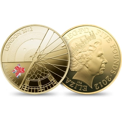 The London 2012 Paralympic Gold Proof £5 Coin | The Royal Mint
