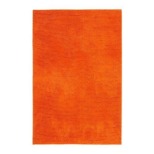 TOFTBO Bath mat - orange, 60x90 cm  - IKEA