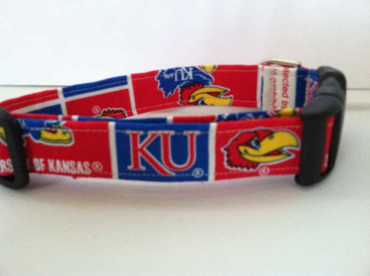 Kansas University dog collar