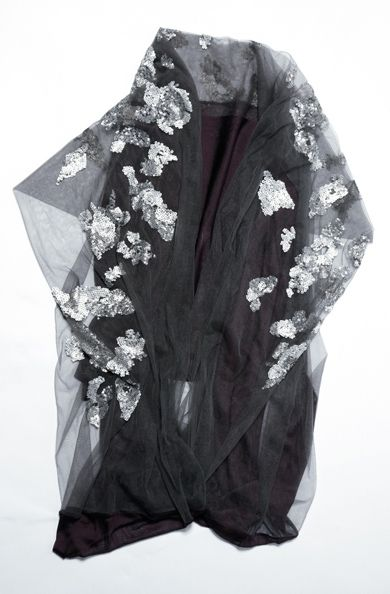 Sequin Tulle Scarf