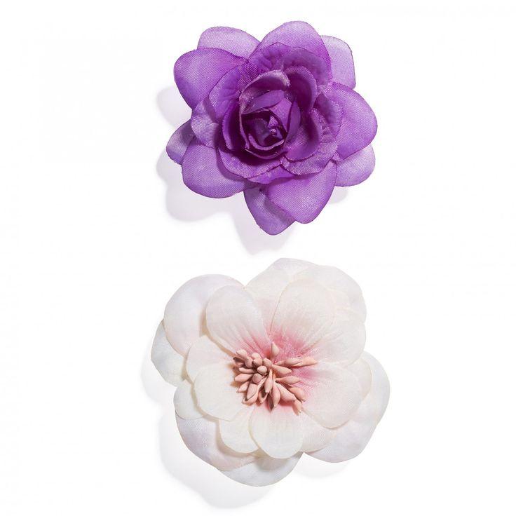 Hårspännen med blommor, 2-pack - Hårspännen - Håraccessoarer - Hårprodukter