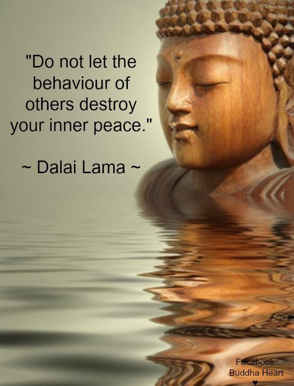 Do not let the behavior of others destroy your inner peace – Dalai Lama