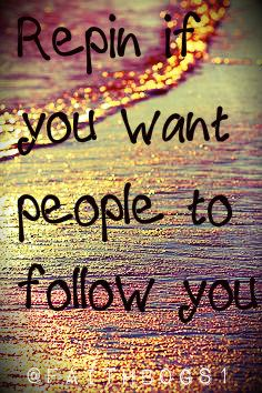 I do:) I follow backkkk