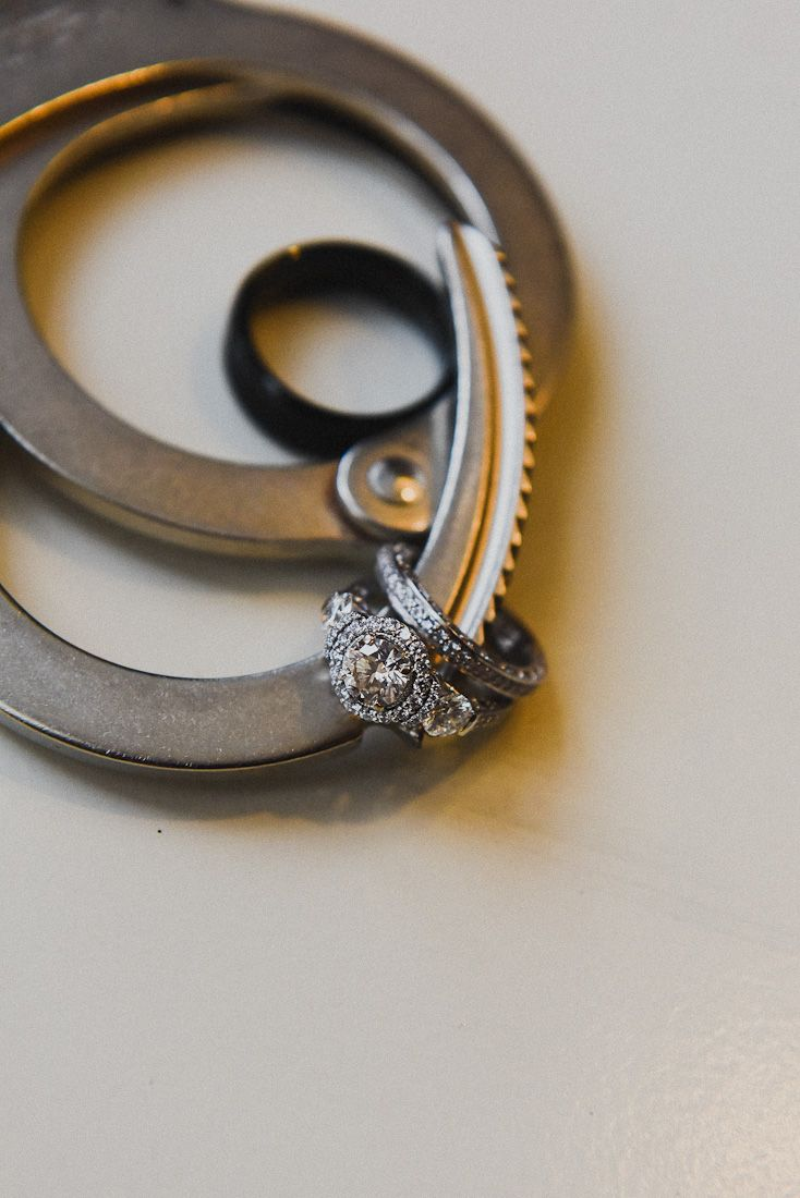 Law Enforcement Wedding And Police Officer Wedding Ideas Wedding Rings  With Handcuffs Makes For A