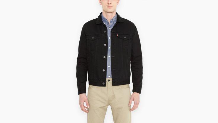 Standard Fit Trucker Jacket | Black | Jackets | Clothing | Men | Levi's | Czech