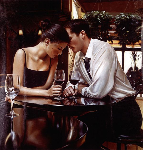 Romantic Encounter by Rob Hefferan... this artist is one of my favorites!