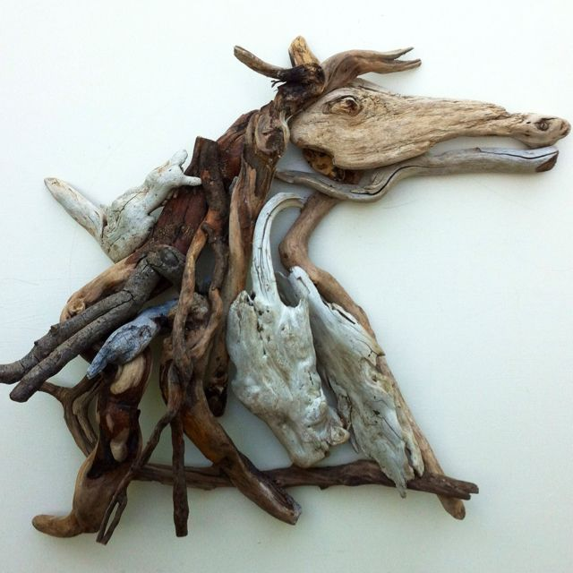"""Driftwood Horse.  Titled:  """"Ride the Drift""""  Driftwood Art by Mother Nature.    Handmade by Doctor Driftwood.  Made out of """"all natural"""" handpicked driftwood and stones """"reclaimed"""" from California. """"Where Nature and Style Meet.""""  Follow me at Facebook/DoctorDriftwood and Pinterest/DoctorDriftwood.  Look for me on Flickr/DoctorDriftwood.  Visit DoctorDriftwood.com for sales, more info, and harmony.  Enjoy Nature in your home.  Cheers!"""