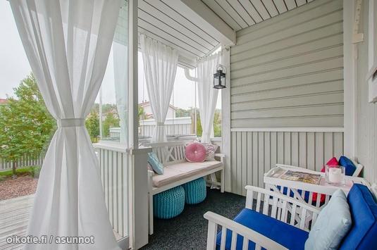 Colorful glazed terrace / Värikäs lasitettu terassi: Glaze Terraces, Outdoor, Card