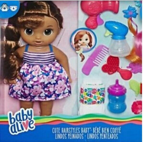 New 2017 Baby Alive Cute Hairstyles Baby Brunette Brown Doll