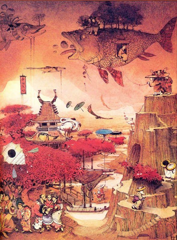 Японские сказки с иллюстрациями челушкина