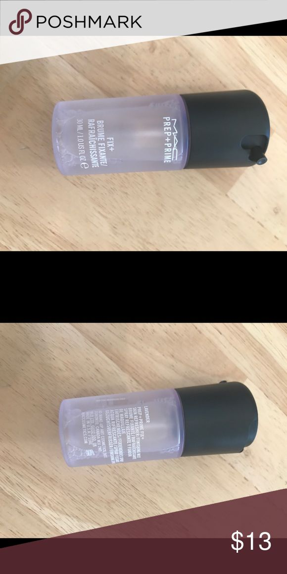 Brand new Mac mini prep and prime fix in lavender Brand new Mac mini 1 fl oz prep and prime fix in lavender from the Mac holiday collection MAC Cosmetics Makeup Face Primer