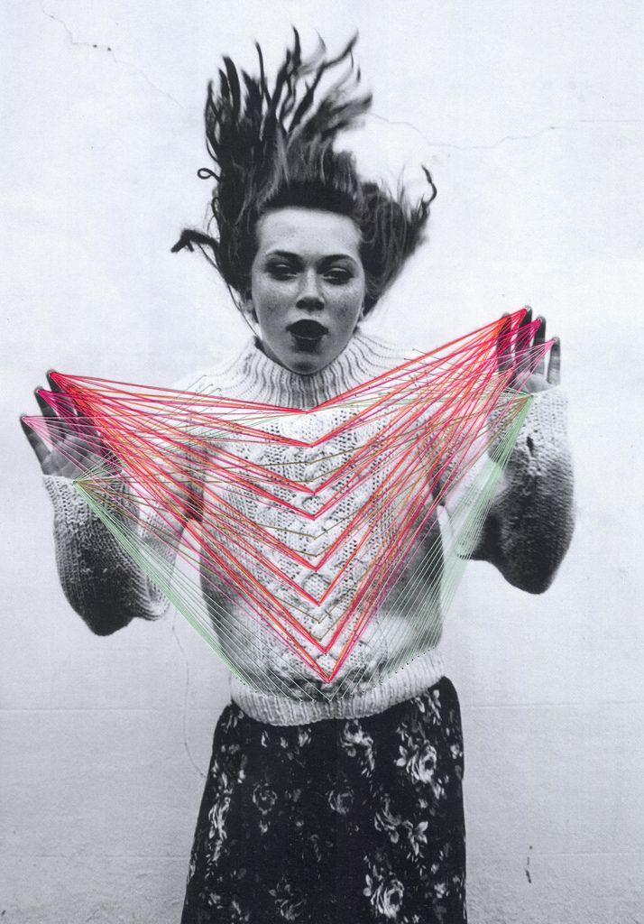 Creative embroidery on photos