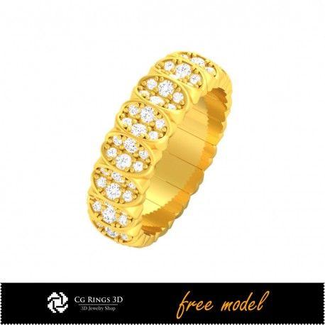 3D CAD Wedding Ring - Free 3D Model