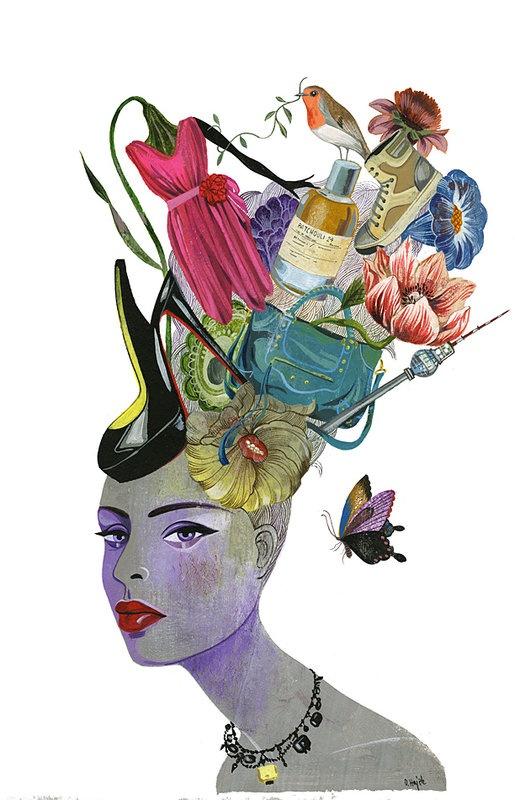 #illustration on Dripbook : : olaf hajek | new work spring 2011 | Berlin, BE, DE | #mixed_media #collage