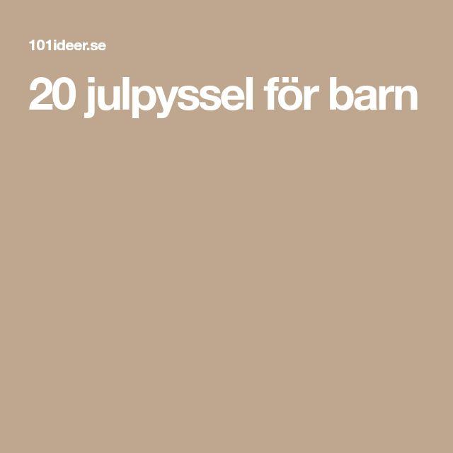 20 julpyssel för barn